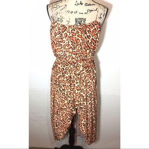 Suzi Chin For Maggy Boutique Hi-Low Cheetah Dress